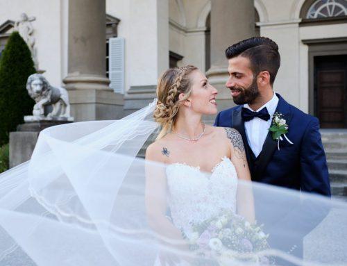 Romantico reportage di matrimonio in Villa Caroli Zanchi